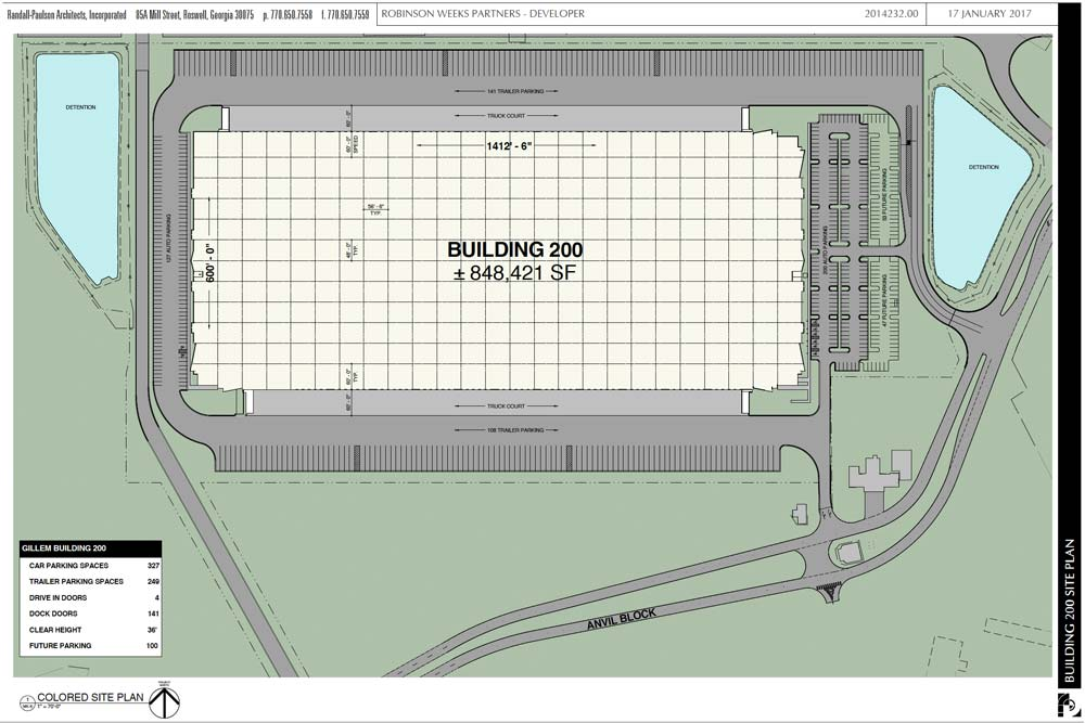 Gillem Bldg 200 Site Plan
