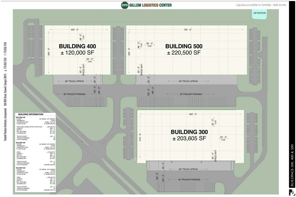 Gillem Logistic Center Buildings 300-400-500 Plan
