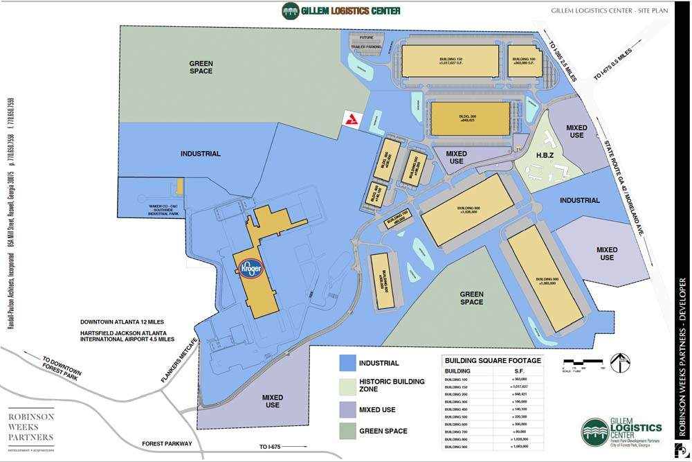 Gillem Logistics Center Site Plan